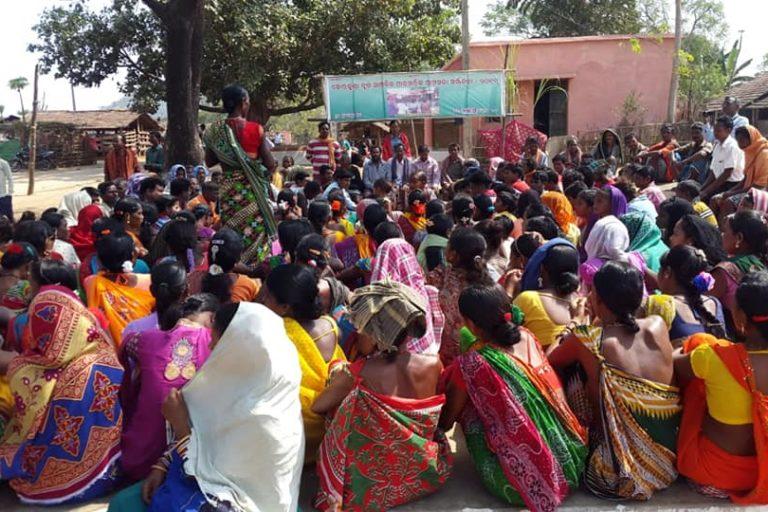 Traditional Gramsabha Sameelani (Convention of Village Council) at Dutelguda village in Telangana. Photo- Sricharan Behera