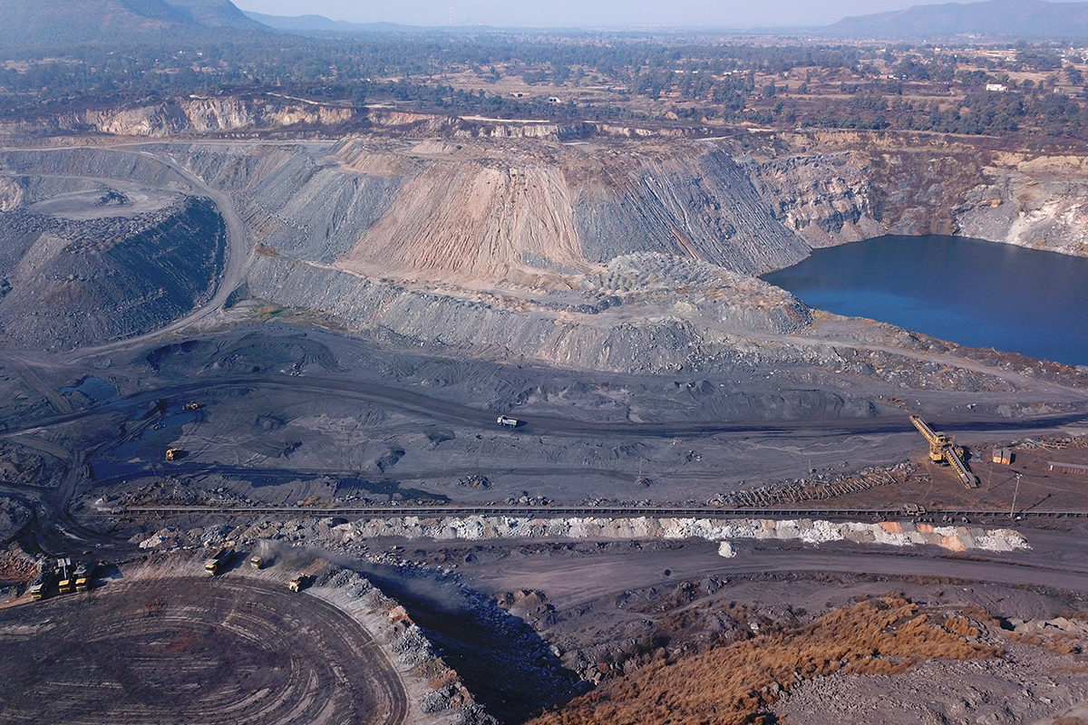 The 1,120 Piparwar opencast mining project was one of the largest coal-producing mines in Jharkhand before it closed operations in June 2020. Photo by Rakesh Ranjan.