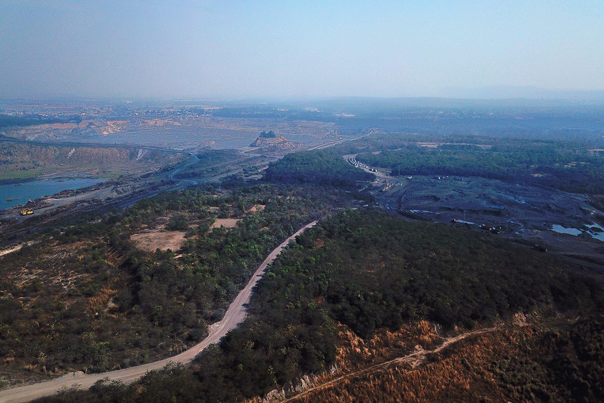 Central Coalfields Limited (CCL), the mining operator at Piparwar, carried out reclamation work in about 272 hectares area including tree plantations, an eco-park and a few water bodies. Photo by Rakesh Ranjan.