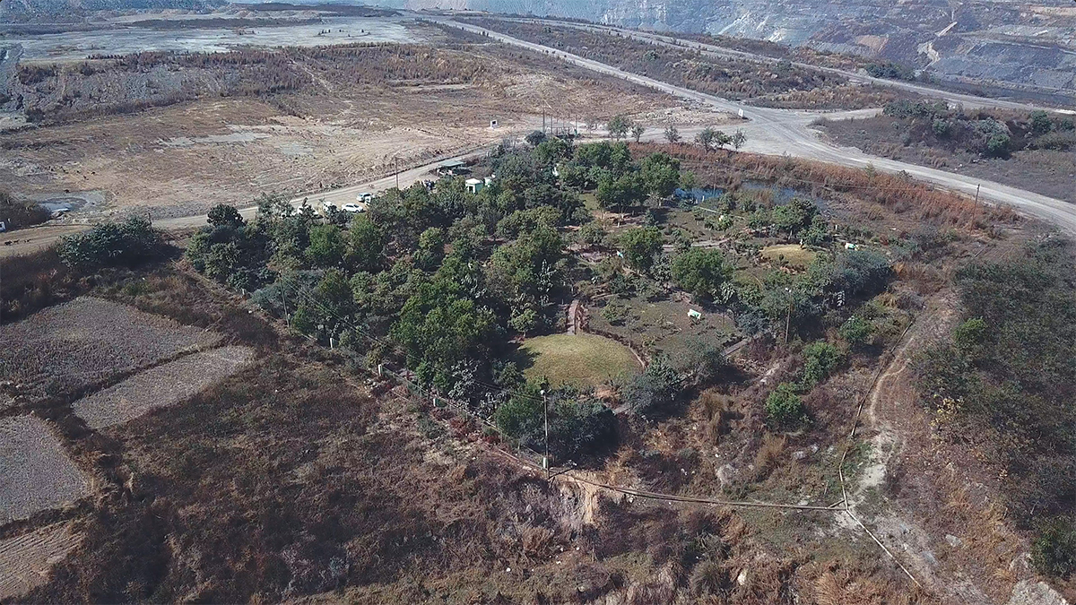 An eco-park created at the Piparwar opencast mining site in Jharkhand. Photo by Rakesh Ranjan.