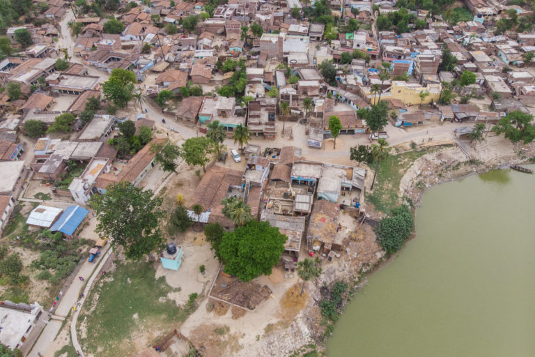 Bagmati river in Muzaffarpur. It flows across Bihar districts Darbhanga, Sitamarhi, Sheohar, Muzaffarpur and Khagaria. Photo- Metro Media/IWMI/Flickr