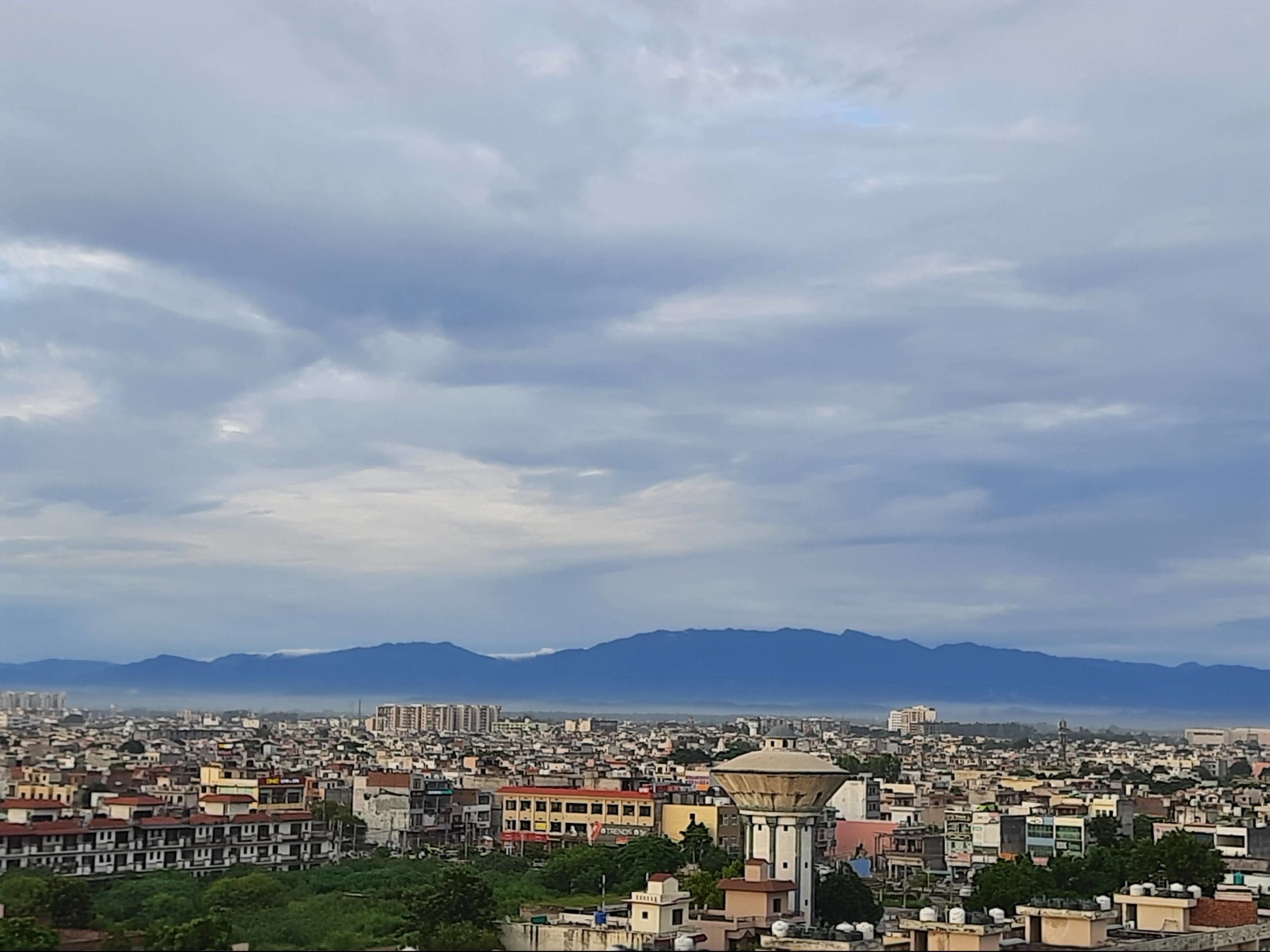 The tri-city skyline with the Shivaliks in the background