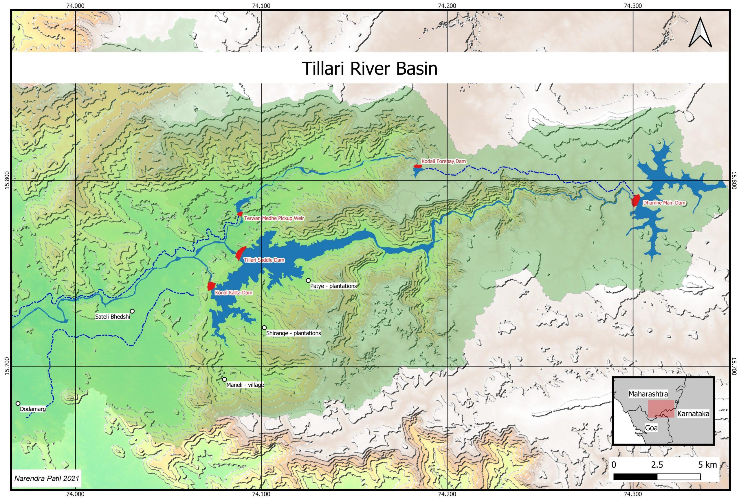 Tillari Valley Map