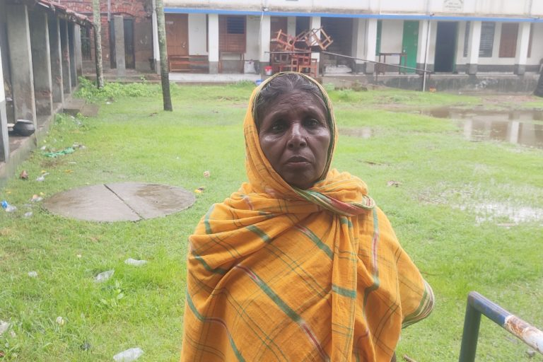 Shilpa Gayen in East Midnapore district of West Bengal who lost her mud house, savings and important documents to cyclone Yaas. Photo by Rig Das.