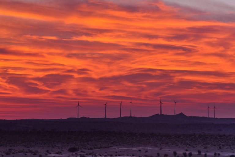 India has a target of 60 GW of wind power by 2022. Photo by Rajarshi Mitra/Flickr.