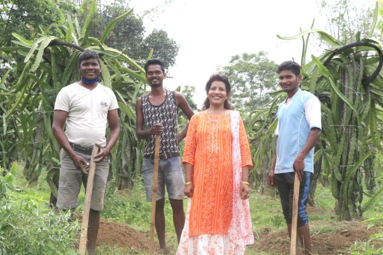 Prabha Tirkey Chacko in her field. Photo by Gurvinder Singh.