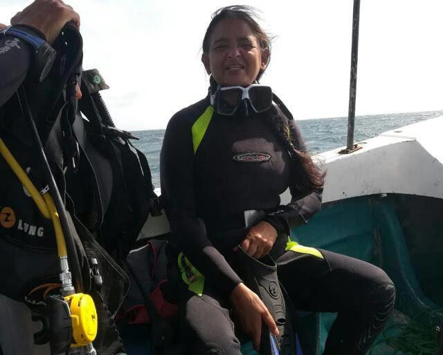Uma Mani, Chennai-based homemaker who learned diving at 49.