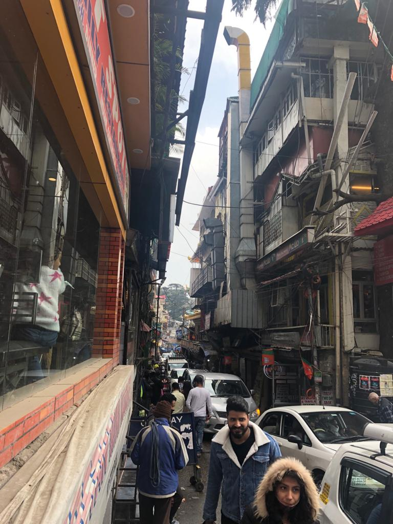 Jogiwara Road is full of multi-storey structures. Photo by Meenakshi Kapoor.