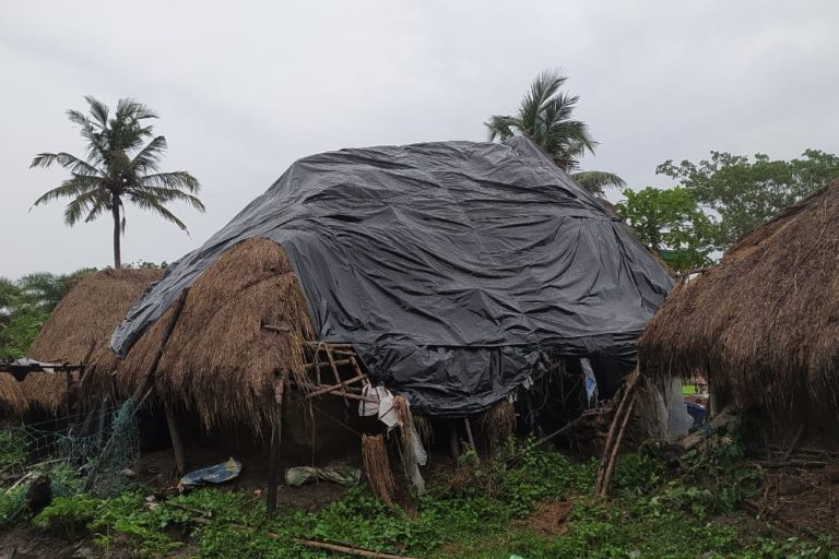 A month after cyclone Yaas hit Bhadrak in Odisha, people are struggling to cope with its aftermath. Photo by Naresh Rout, Pragati Jubak Sangha.