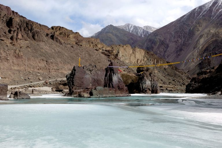 The melted Zanskar River in winters. Photo by Archana Singh.