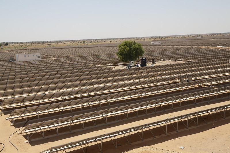 The installation of solar power systems in the country is yet to achieve the desired pace. Photo by Jitendra Parihar (Thomson Reuters Foundation)/Flickr.