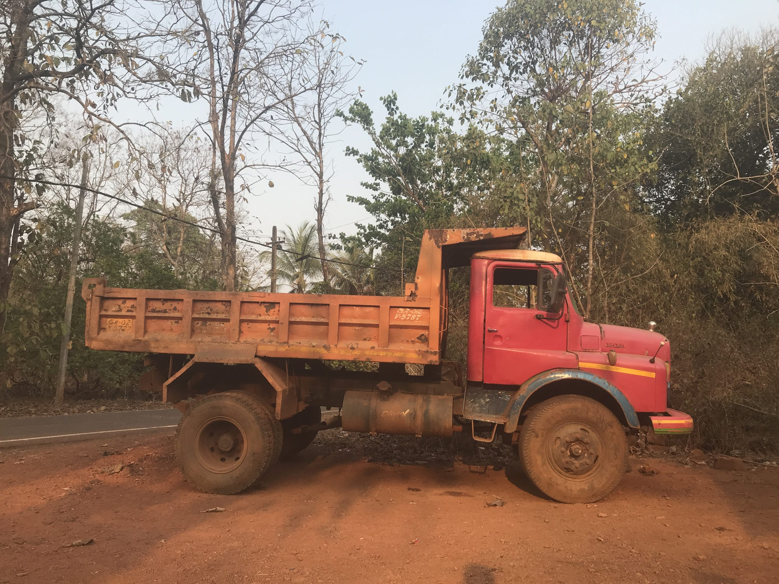 A mining truck in Pissurlem, a mining-affected village in north Goa. Photo by Supriya Vohra.