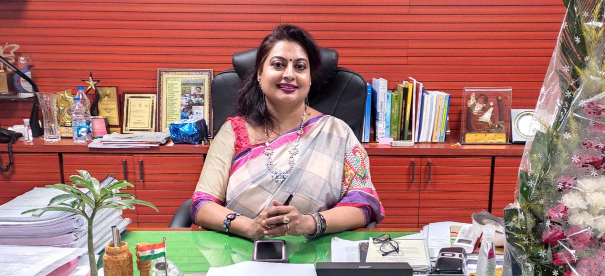 Dhriti Banerjee in her office at ZSI headquarters in Kolkata. Photo from ZSI.