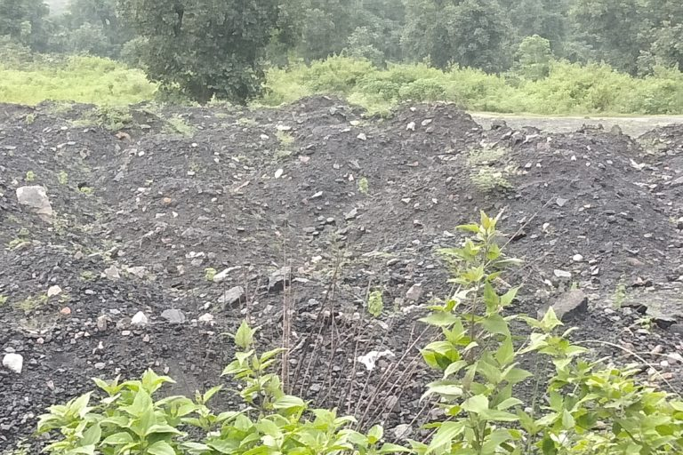 Waste generated by a power plant. The river also faces a menace of fly ash. Photo by Rahul Singh