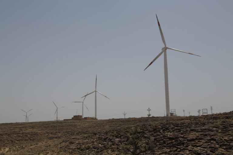 Wind power is an important part of India's clean energy plans. Photo by Jitendra Parihar (Thomson Reuters Foundation)/Flickr.
