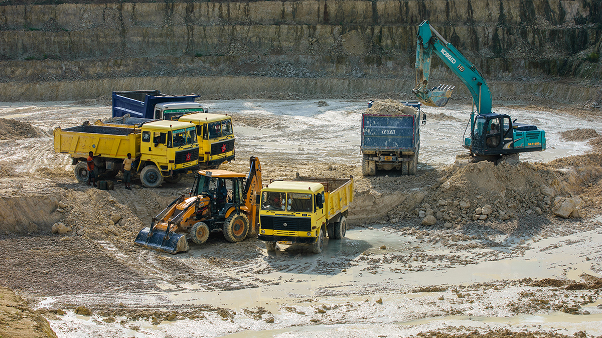 China clay is mined from open cast mines in Birbhum, West Bengal. The state holds 14% of India's China clay or kaolin reserves but the industry remains largely untapped. Photo by Subhrajit Sen.