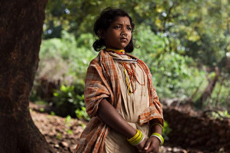 12 वर्ष की मुरुदी जाकेसिका हुंदडिजली गांव में रहती है। तस्वीर- इंद्रजीत राजखोवा