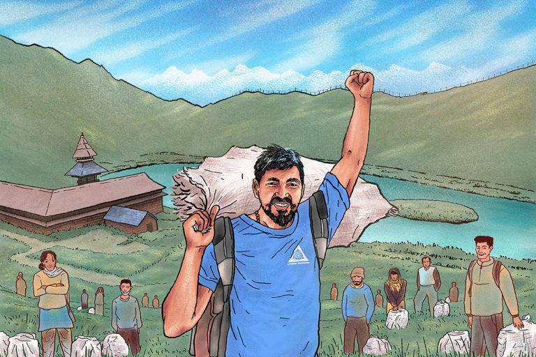 हिमाचल के वादियों को स्वच्छ बना रहे हरियाणा के प्रदीप