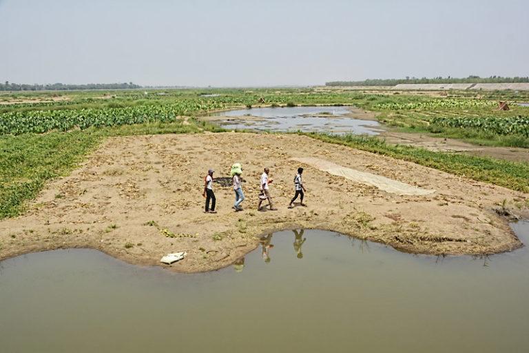 महानदी में पानी की कमी से रोजगार का संकट पैदा हो रहा है। नदी पर हजारों मछुआरे और किसान आश्रित हैं। तस्वीर- इंडिया वाटर पोर्टल/फ्लिकर