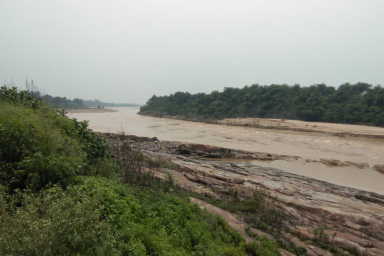 छोटा नागपुर की पहाड़ियों से निकलकर दामोदर नदी हुगली नदी में जाकर मिलती है। प्रदूषण और बाढ़ की वजह से नदी काफी चर्चित रहती है। तस्वीर- राहुल सिंह